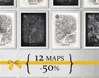 12 maps with 50% Discount {Special Discount Offer} Just select size and style!