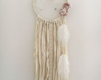 "7"" Shabby Chic Floral Dream Catcher"