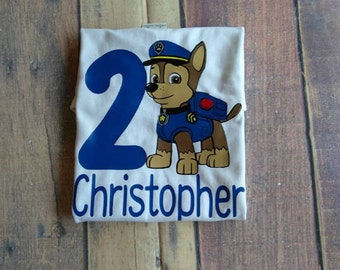 Kid's Paw Patrol Birthday Shirt Boy's and Girl's Personalized B-Day Shirt Toddler Clothing Youth Unisex Clothes