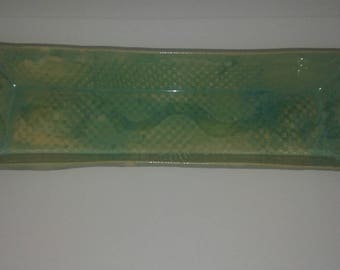 Sea foam green serving tray