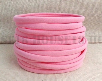 Nylon Headband Pink Headband Bulk Headband One Size Fits Most Stretchy Skinny Soft DIY Baby Newborn Infant Headband Wholesale