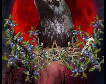 BLACK JENNET Crow Spirit Familiar Gilcee Art Print