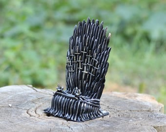 Game of Thrones gift for husband iPhone stand Polymer clay Mens gift Device holder Anniversary gift For him Boss gift Charging station