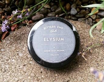 Smudge Tin : Elysium - Loose Leaf Incense, Sacred Smoke, Air Purifier, Meditation, Divination, Positive Energy, Good Vibes, Sage, Floral