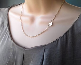 Swallow necklace   gold bird necklace   gold swallow   gold necklace   dainty necklace   sparrow necklace   swallow pendant   flying bird