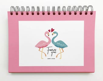 Valentine's Gift, Valentines Day Personalised Flamingo Gift, Valentine's Gift Flamingos, Valentines Day Gift For Him, Valentines Decor