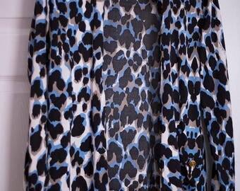 Vintage Roberto Cavalli Cheetah Silk Blouse