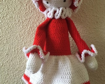 Amigurumi Miss Lalylala red and white