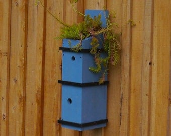 Double birdhouse with roof garden