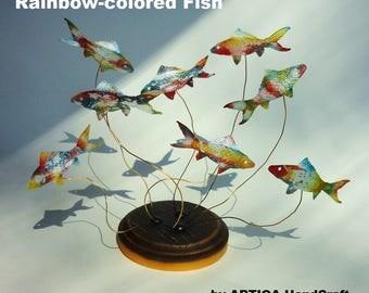 rt,interior,object,sculpture,decoration,rare,carp,koi,fish,handmade,craft,original,goldfish,tabletop,desktop,display