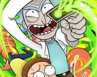 Rick and Morty 11x17 Print