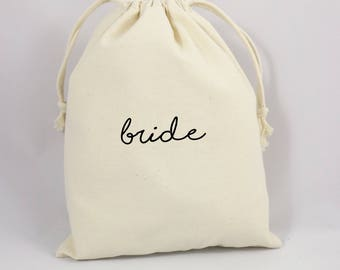 Bride Favor Bag, Bridal Shower Gift Bag, Bachelorette Bride Gift Bag, Bride Gift Bag