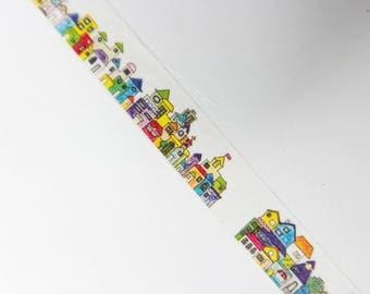 Cityscape - Washi Tape - Decorative Tape - Planner Tape