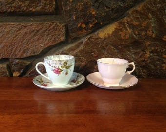 Vintage teacup candle; handmade soy candle, scented soy candle, tea cup and saucer, tea cup set, tea cup candle, shabby chic decor