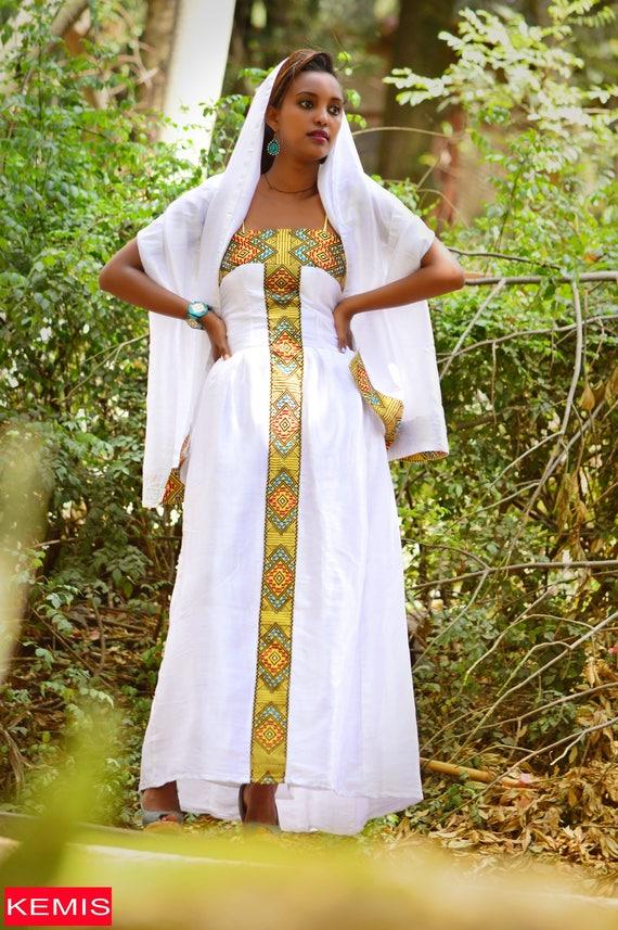 Ethiopian eritrean habesha wedding dresses traditional modern for Habesha dress for wedding