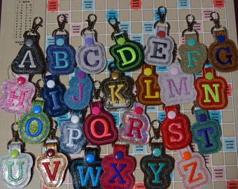 Initial Letter Keychain