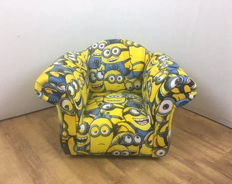 Children's/Kids Armchair in Minions Themed Fabric