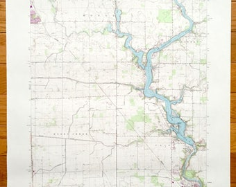 Antique Monticello Indiana 1962 Us Geological Survey Topographic Map Reynolds Monon Union