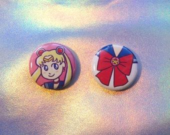 cute Sailor Moon button set