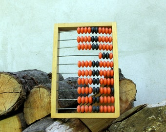 Vintage  Abacus Wooden Abacus Office Decor Rustic Home Decor Old School Calculator Old Abacus Wood Calculator large Abacus Soviet Abacus