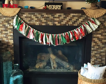 Country christmas decorations, christmas garland, christmas wall decor, christmas tree garland, christmas mantle garland, christmas banner