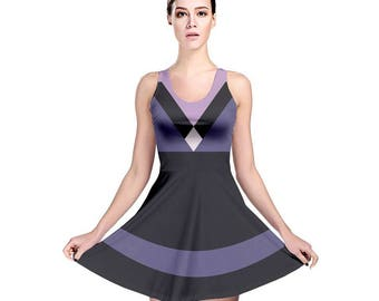 Homeworld Amethyst Cosplay Dress - Amethyst Dress Steven Universe Dress Purple Dress Amethyst Skater Dress Holly Blue Agate Pink Diamond Zoo