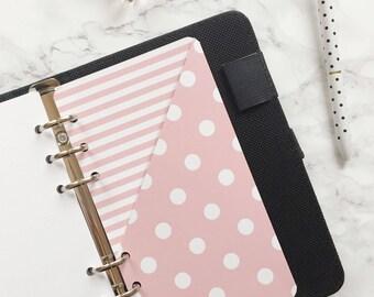 Polka Dot Pocket Folder | Planner Pocket | Pocket Divider | Pocket Dashboard - Personal size