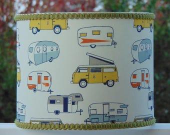 Handmade Drum Lampshade - Camper Vans!