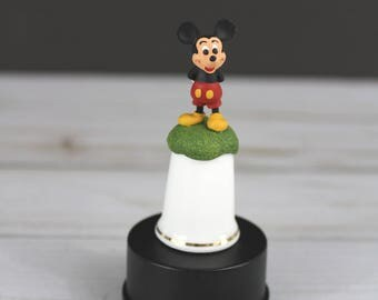 Vintage Walt Disney Mickey Mouse Thimble by Sterling Classic // Gift Ideas // Disney Gift / Gift for Mom 2.24