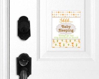 Shh Baby Sleeping Sign, Baby Sleeping Door Magnet, Baby Sleeping Door Hanger, Do Not Ring Doorbell, Do Not Knock, Baby Shower Gift, Nursery