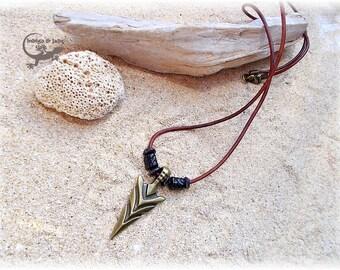 Leather Necklace Arrow
