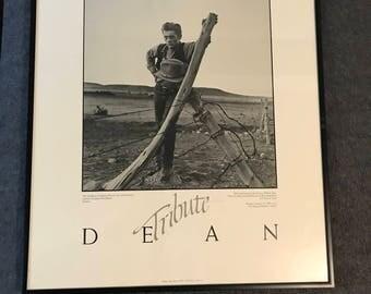 Vintage 1983 James Dean Tribute Framed Print