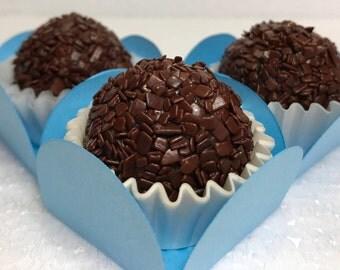 Dark Chocolate Brigadeiro made with Belgian Chocolate, Brazilian Truffles – Delicious Edible Gifts