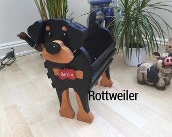 ROTTWEILER,wooden dog garden planter,garden ornament