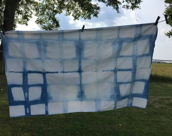 Shibori Hand-Dyed Indigo Fabric