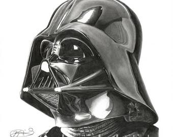 "8.5x11"" OR 11x17"" Print of Darth Vader from Star Wars"