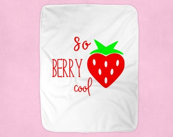 Strawberry Blanket For Preschool, Funny Blanket, Strawberry Home Decor Bedroom, Gifts For Girls, Dorm Room Decor For Girls, Toddler Girl