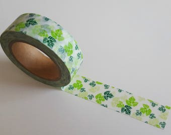 Washi Tape/ Craft Tape- Green Ivy Leaves