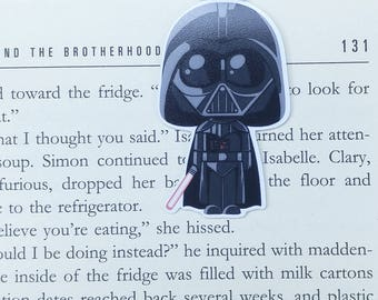 Vader - Magnetic bookmark || sw lover gifts | boyfriend gift | bookmark | bookish | bookmarks | star wars | magnetic bookmarks