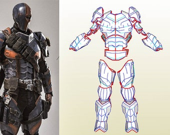 Deathstroke etsy for Deathstroke armor template