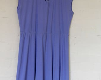 Late 70's early 80's lilac dress - size 16/18