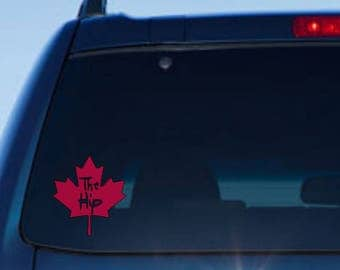Maple Leaf Decal Etsy - Custom vinyl car decals canada