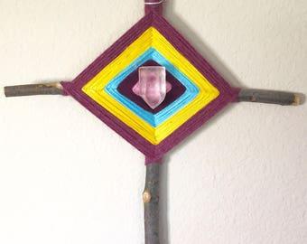 God's Eye With Beautiful Quartz Crystal Center