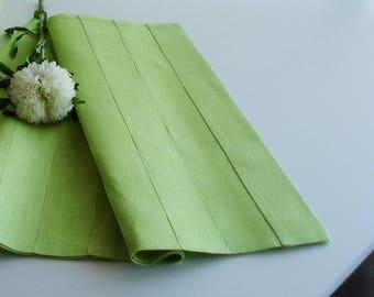 High Quality Light Green Table Runner, Linen Table Runner, Linen Runner, Linen Table  Cloth,
