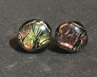 Red/gold Stickle Stud Earrings