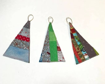 Multi-Coloured Quilted Tree Shaped Ornament - unbreakable