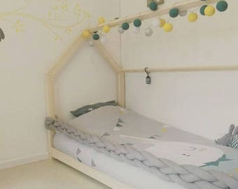 Bed rail hut braided baby