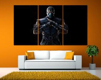 Mortal Kombat Wall Art, Mortal Kombat Poster, Video Game Room Art, Video Game Posters, Video Game Art Print, Mortal Kombat Artwork LC102