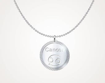 Cancer horoscope necklace - Cancer astrological necklace - Cancer Zodiac necklace