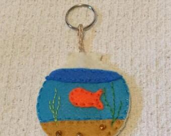 Fish Bowl Keychain